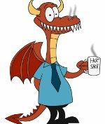 дракон офисный сотрудник
