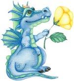 дракон с цветочком