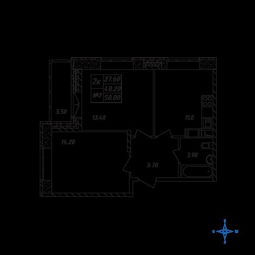 Планировка квартиры в ЖК Химки
