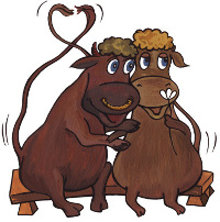 влюбленные быки