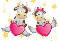 быки с сердцами