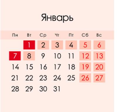 Как отдыхаем в январе 2019 года в России, январские праздники, выходные