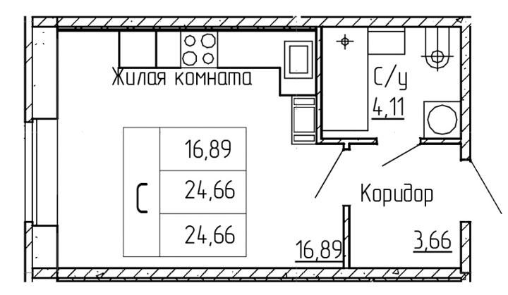ЖК Мурино планировка квартиры