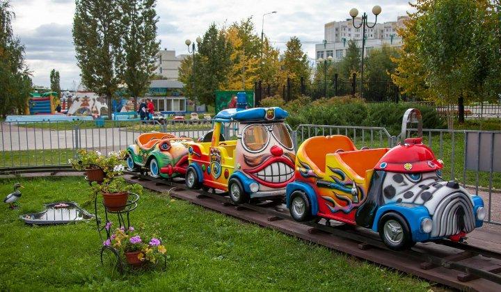 детские аттракционы в парке в Южном Бутово