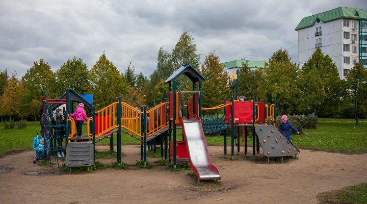 детская площадка в парке в Южном Бутово