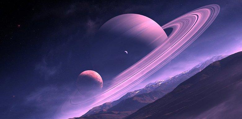 вид сатурна с земли