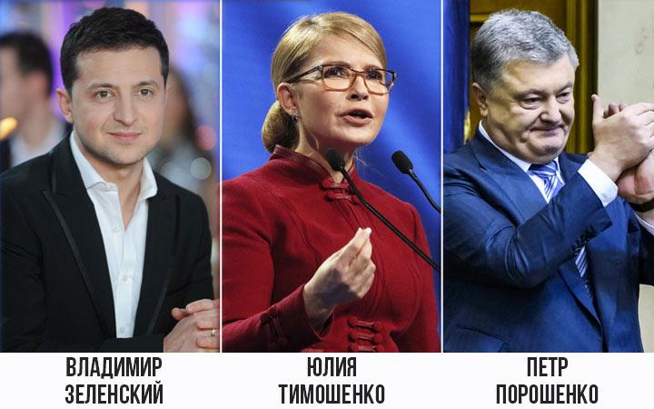Лидеры президентских выборов Украины в 2019 году