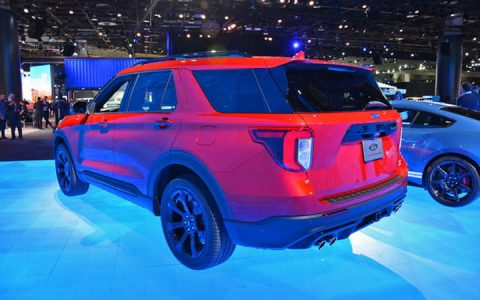 Задний бампер Ford Explorer 2019-2020