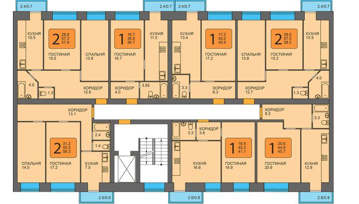 Планировка квартир в ЖК «Вишневый» Пермь