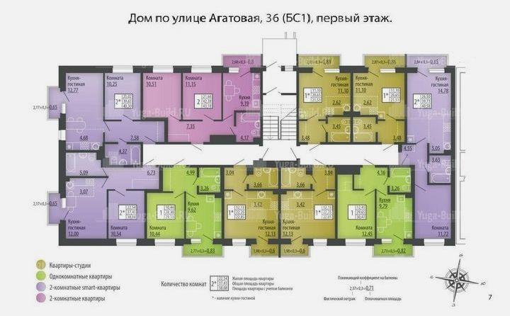 Планировка квартир в Микрорайоне «Ива» г. Пермь