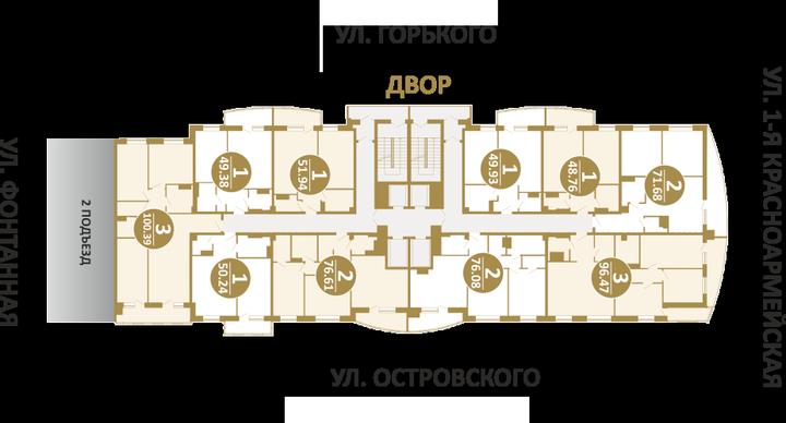 Планировки в ЖК Солнечный город