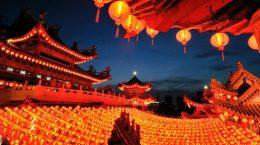китайский квартал во время праздника