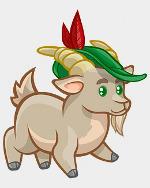 козел в шляпе