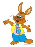 мультяшный кролик в галстуке