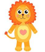 лев с сердечком на животе