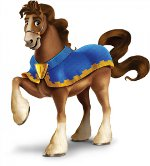 лошадь в накидке