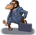 обезьяна в костюме