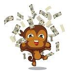 обезьянка с деньгами