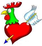 петух с сердцем