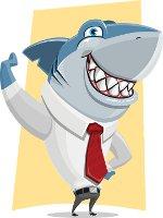 акула в костюме