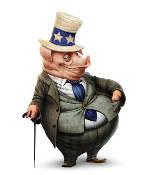 свинья в костюме