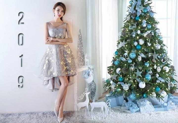 Новогоднее платье 2019 года