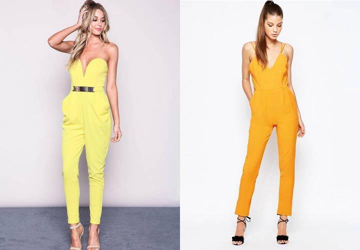 Модный желтый комбинезон 2019 года