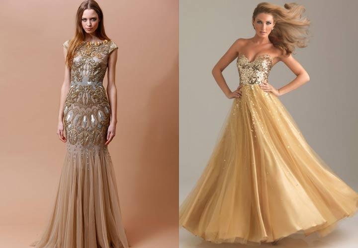 Модное платье в нюдовых тонах