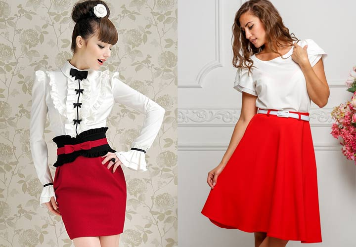 Модная белая блуза