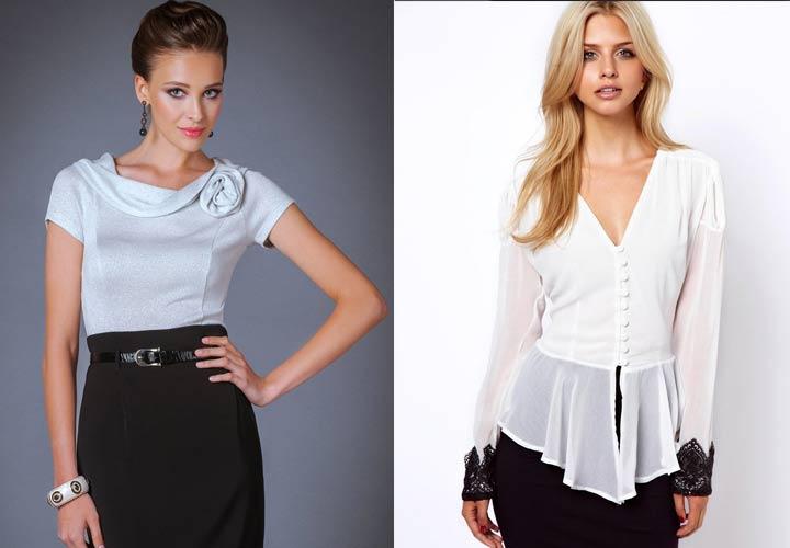 Элегантная классическая блуза