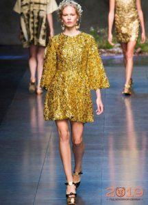 Новогоднее платье золото на 2019 год