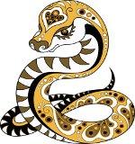 росписная змея