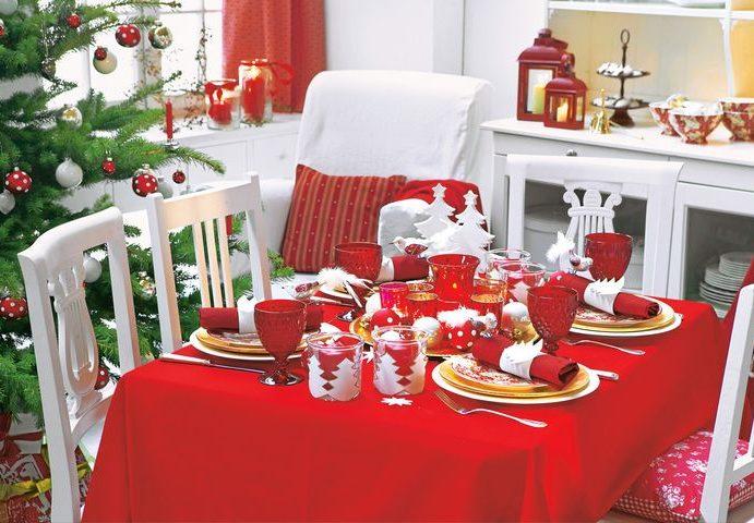 Варианты новогодней сервировки