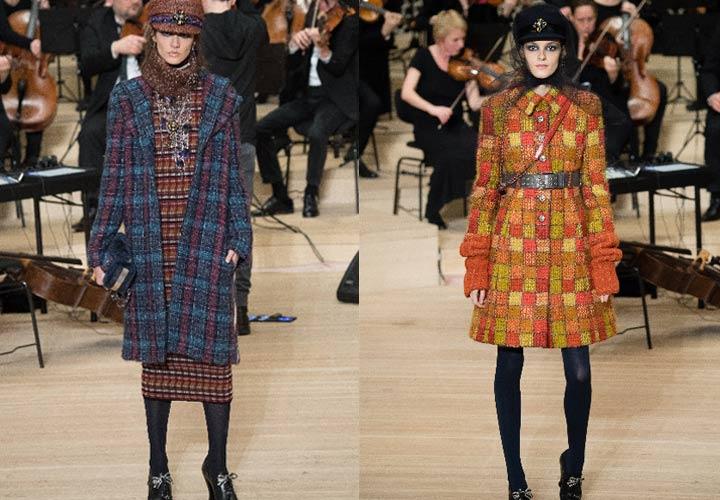 Модные пальто в клетку от Chanel