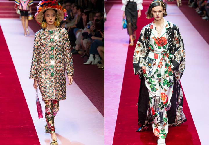 Пальто Dolce & Gabbana мода 2018-2019 года