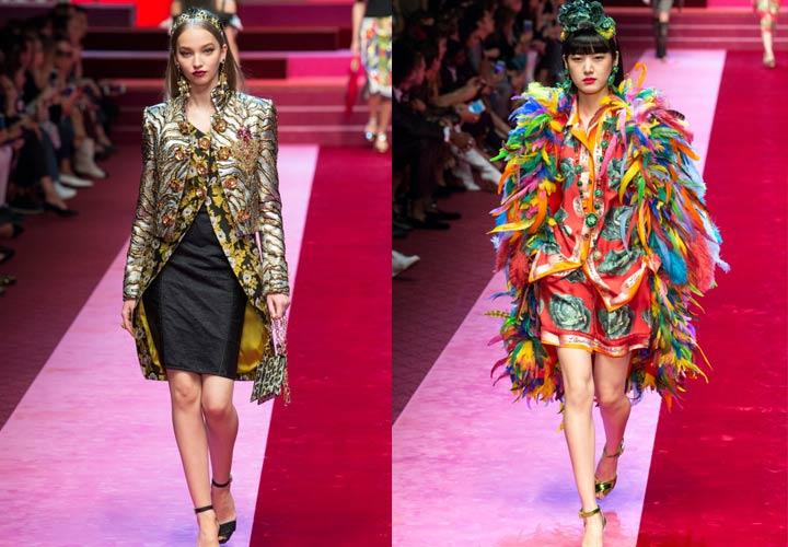 Яркие образы 2018 года от Dolce & Gabbana