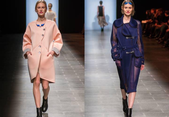 Модный показ Викки пальто 2018 года