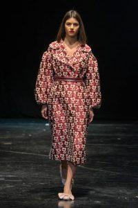 Пальто с цветочным принтом Diana Kvariani