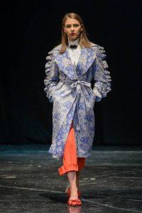 Голубое пальто Diana Kvariani 2018