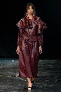 Образ в бордовых тонах Diana Kvariani