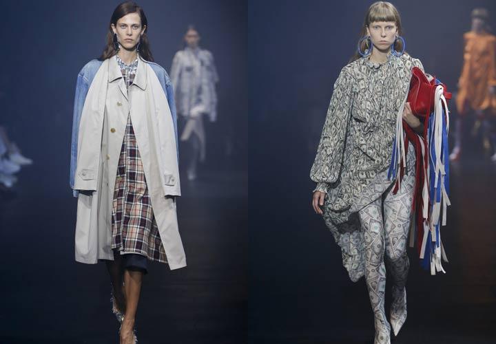 Демисезонное пальто показ Balenciaga 2018 год