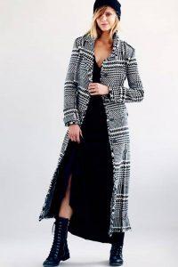 Пальто в клетку 2018-2019 год