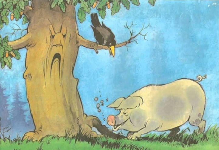 Рисунок свинки пошагово