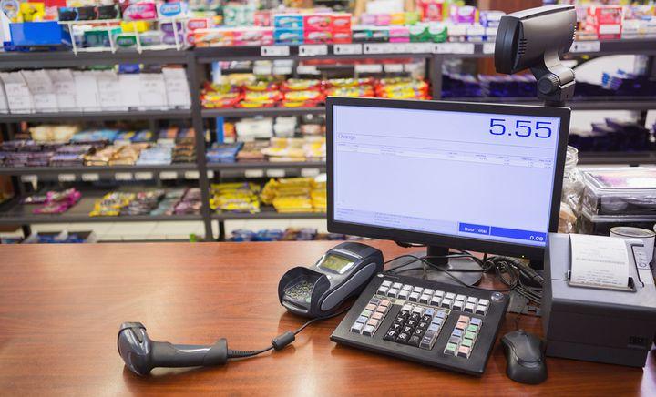 Онлайн-касса в супермаркете