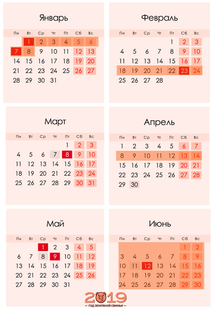 Триместры в 2018-2019 учебном году часть 2 (2019 год)