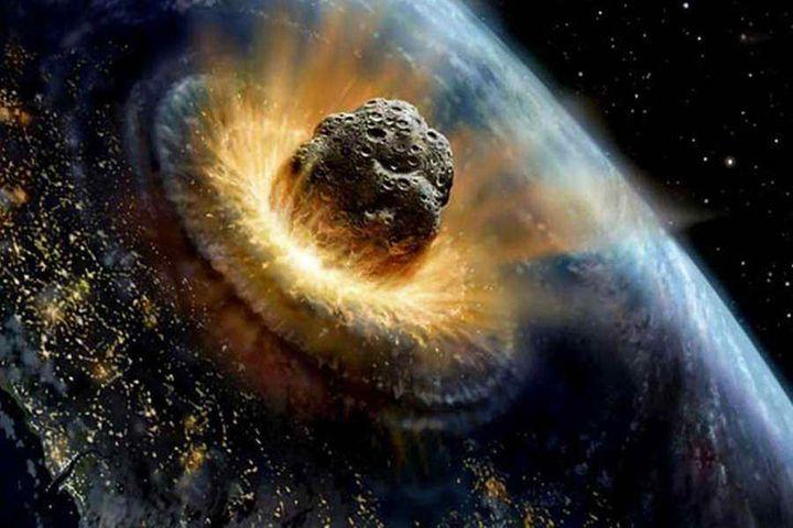 Астероид врезался в Землю