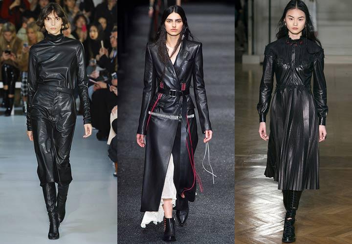 Натуральная кожа - мода 2018 года