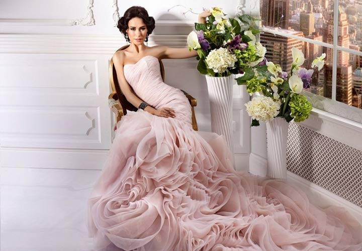 Вечернее платье в романтическом стиле