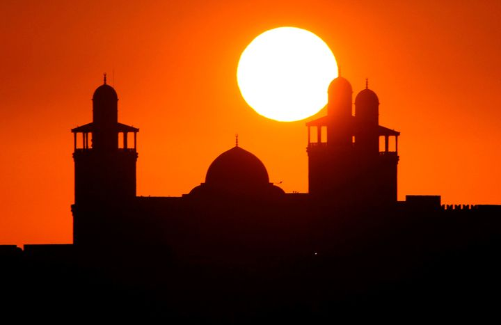 Sunset over the mosque