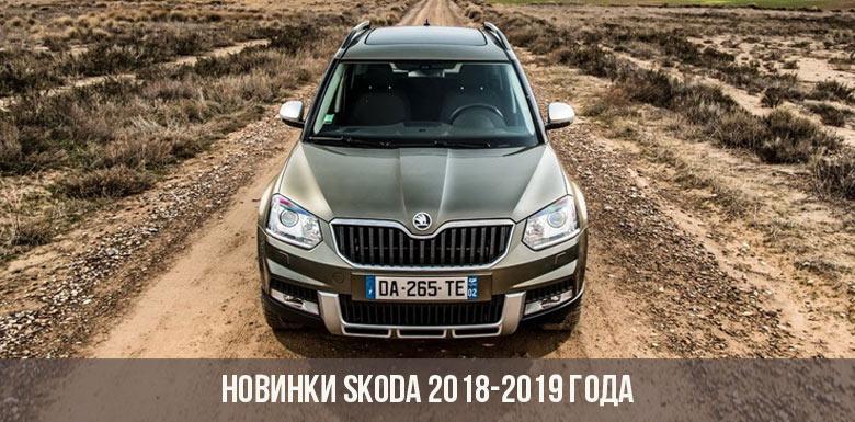 Новинки Skoda 2018-2019 года